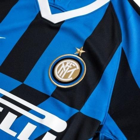 Комплект взрослой домашней формы Интер 2019-2020 футболка герб клуба