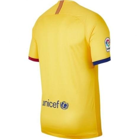 Гостевая игровая футболка Барселоны 2019-2020 сзади