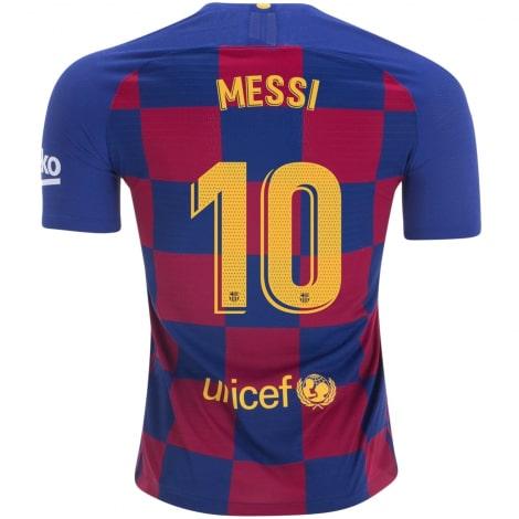 Детская домашняя футбольная форма Месси 2019-2020 футболка сзади