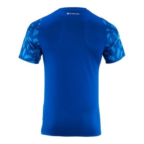 Комплект детской домашней формы Шальке 04 2019-2020 футболка сзади