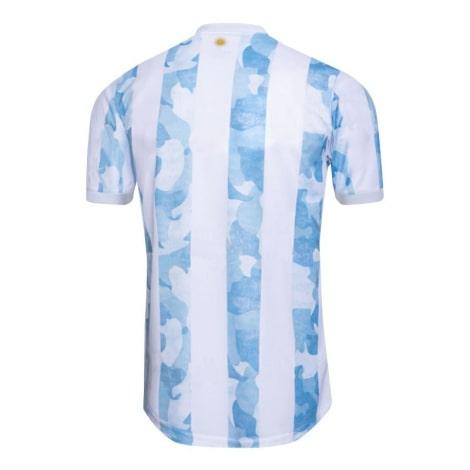 Домашняя игровая футболка сборной Аргентины 2020-2021 сзади