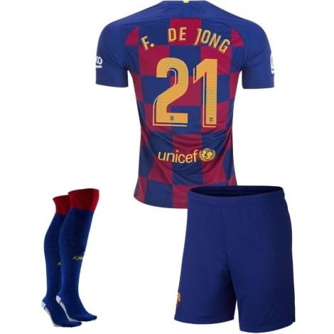 Детская домашняя футбольная форма Де Йонг 2019-2020