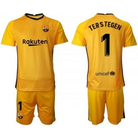 Вратарская желтая футбольная форма Тер Штеген 2020-2021
