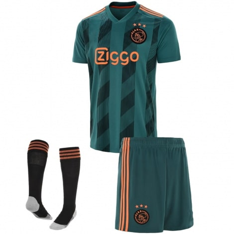 Детская гостевая футбольная форма Промес 2019-2020 номер 11 футболка шорты и гетры спереди