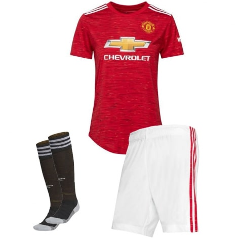 Детская домашняя форма Манчестер Юнайтед 2020-2021 футболка шорты и гетры