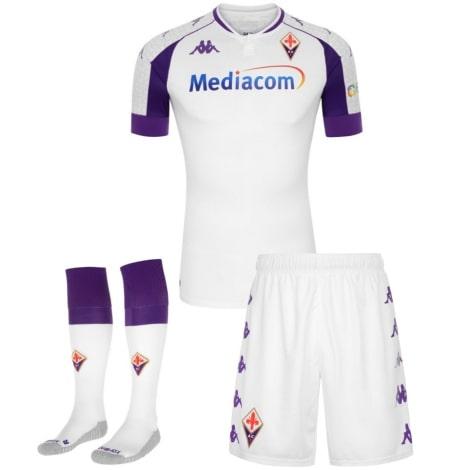 Детская гостевая футбольная форма Фиорентина 2020-2021 футболка шорыт и гетры