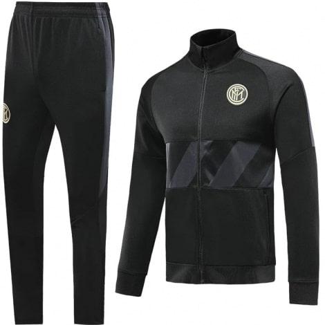 Взрослый черный тренировочный костюм Интера 19-20