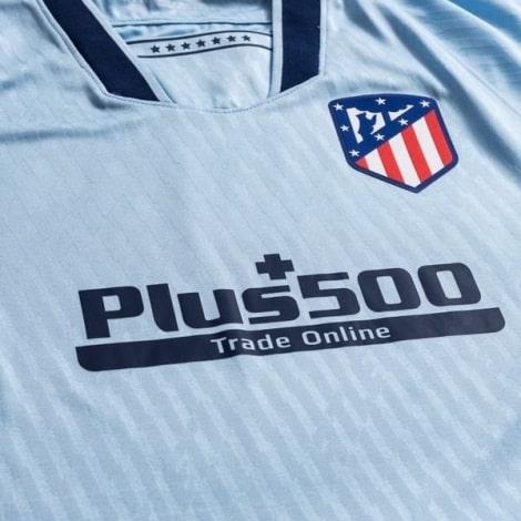 Комплект детской третьей формы Атлетико 2019-2020 футболка титульный спонсор