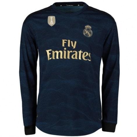 Взрослая гостевая форма Реал Мадрид 19-20 c длинными рукавами футболка спереди
