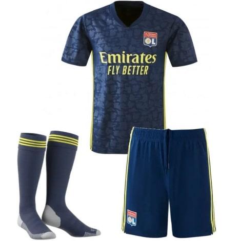 Комплект взрослой третьей формы Лион 2020-2021 футболка шорты и гетры