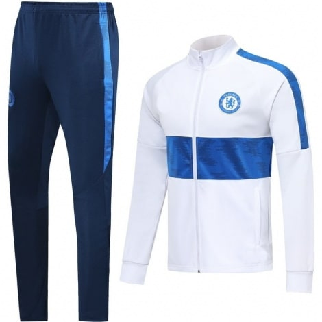 Взрослый бело-синий тренировочный костюм Челси 2019-2020