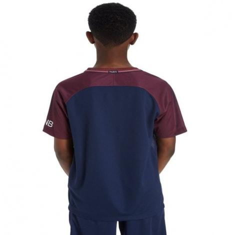 Детская домашняя футболка форма ПСЖ 17-18 сзади
