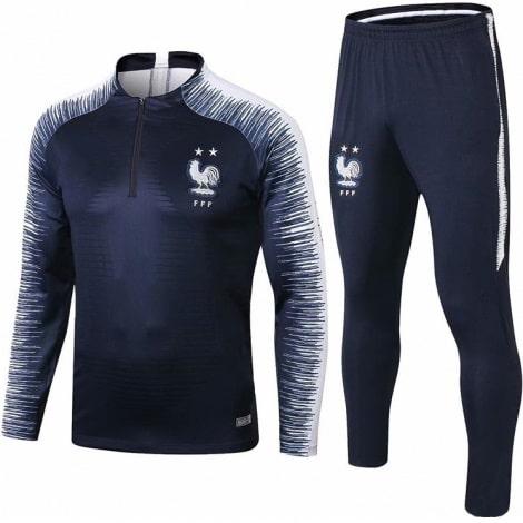 Детский бело-черный костюм Франции по футболу 2019-2020