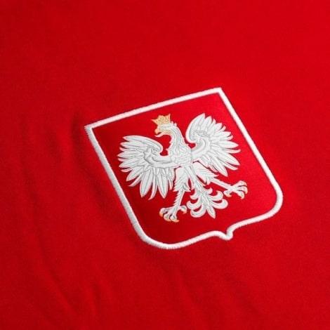 Гостевой комплект детской формы Польши на ЕВРО 2020-21 футболка герб сборной Левандовски