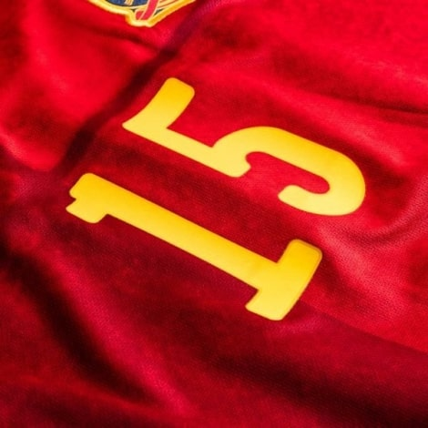 Детская домашняя форма Испании Серхио Рамос на ЕВРО 2020 номеро 15 на груди