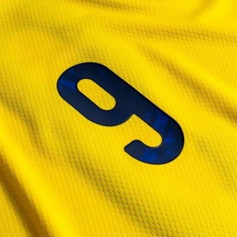 Детская домашняя футбольная форма Швеции 2020 БЕРГ номер