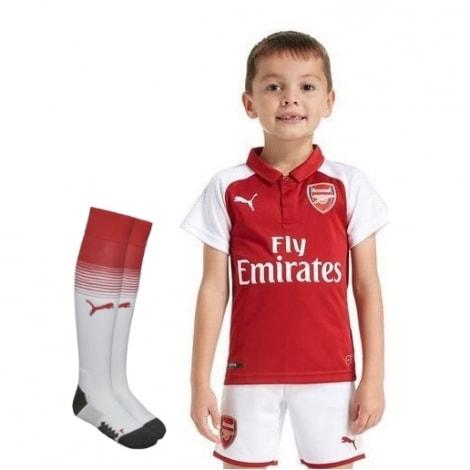 Детская домашняя футбольная форма Арсенала 2017-2018