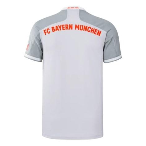 Гостевая игровая футболка Баварии 2020-2021 сзади