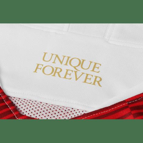 Домашняя игровая футболка Монако 2018-2019 воротник