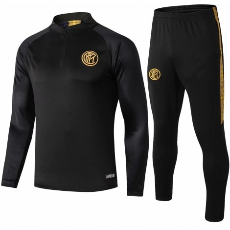 Взрослый черный спортивный костюм Интера 19-20