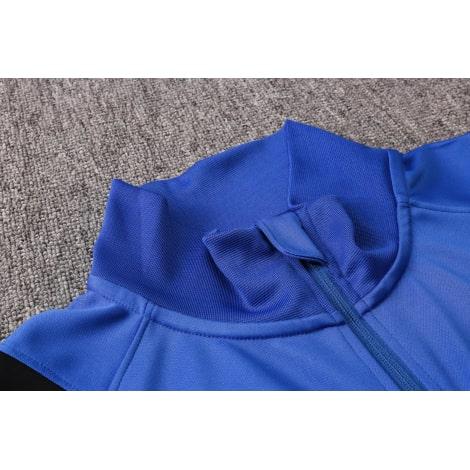 Черно-синий тренировочный костюм Интера 2021-2022 воротник