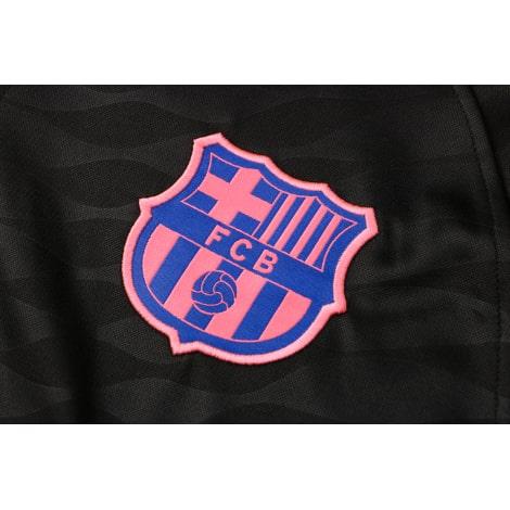 Черно-фиолетовый костюм Барселоны 2021-2022 герб клуба