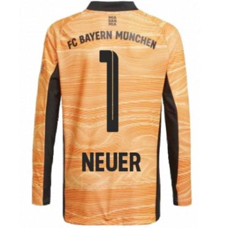 Оранжевая футболка Нойер с длинными рукавами 2021-2022