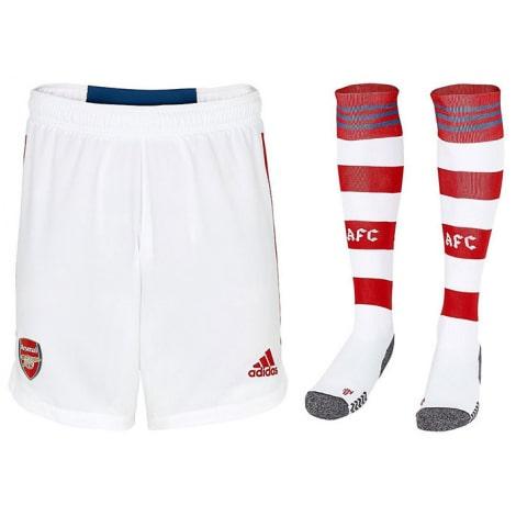 Комплект детской домашней формы Арсенала 2021-2022 шорты и гетры