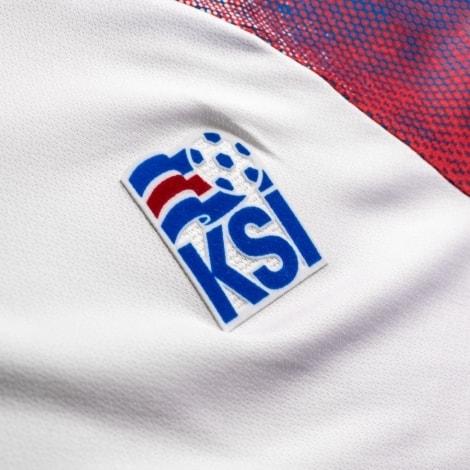 Гостевая футболка сборной Исландии на ЧМ логотип