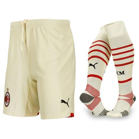 Детская гостевая футбольная форма Милан 2021-2022 шорты и гетры