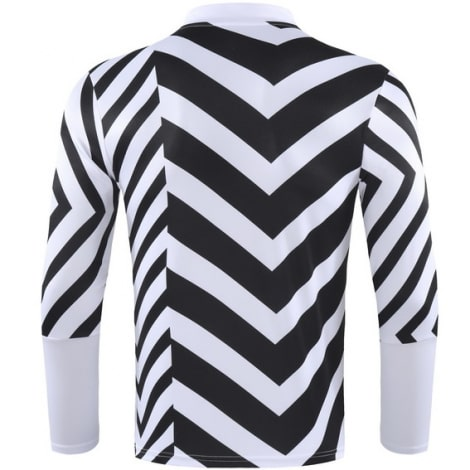 Черно-белый костюм Манчестер Юнайтед 2021-2022 кофта сзади