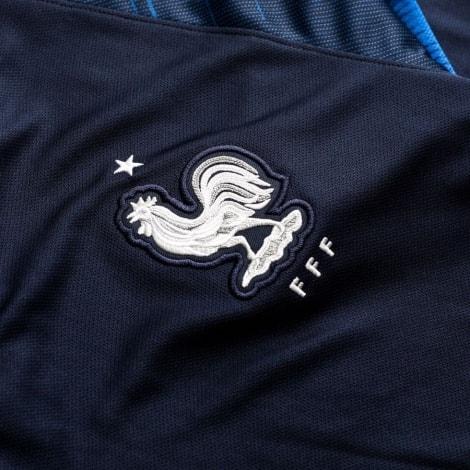 Футболка Франции на ЧМ 2018 Погба воротник герб сборной