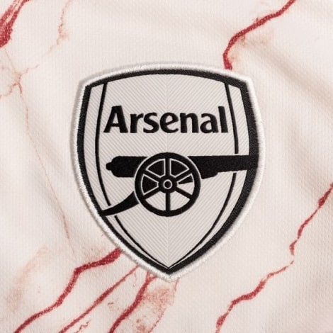 Комплект взрослой гостевой формы Арсенала 2020-2021 футболка герб клуба