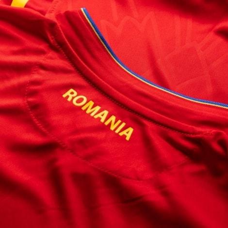 Гостевая футболка сборной Румынии на чемпионат мира 2018 воротник сзади