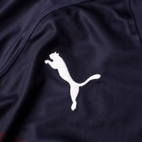 Гостевая игровая футболка Арсенала 2018-2019 эмблема производителя