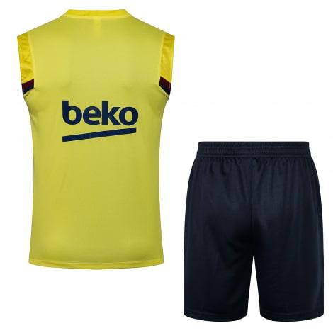 Желто-синяя тренировочная форма Барселоны 2021-2022 сзади