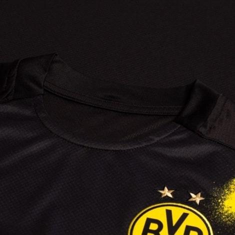 Гостевая игровая футболка Боруссии Дортмунд 2020-2021 Холанн воротник