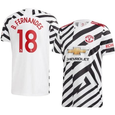 Детская третья форма Ман Юнайтед Бруну Фернандеш 2020-2021 футболка