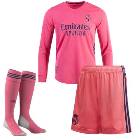 Гостевая форма Реал Мадрид 2020-2021 c длинными рукавами футболка шорыт и гетры