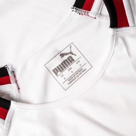 Детская гостевая футболка формы Милана 2018-2019 воротник вблизи