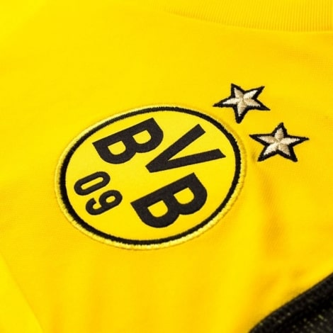 Футболка взрослой домашней формы Боруссии Дортмунд 2018-2019 герб клуба