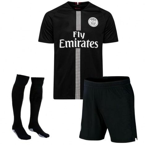Детская домашняя футбольная форма Мбаппе номер 7 JORDAN 2018-2019 футболка шорты и гетры