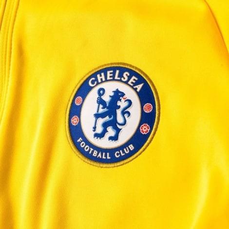 Взрослый желто-синий тренировочный костюм Челси 2018-2019 герб клуба