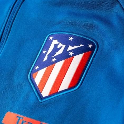 Взрослый синий костюм Атлетико Мадрид 18-19 кофта герб клуба