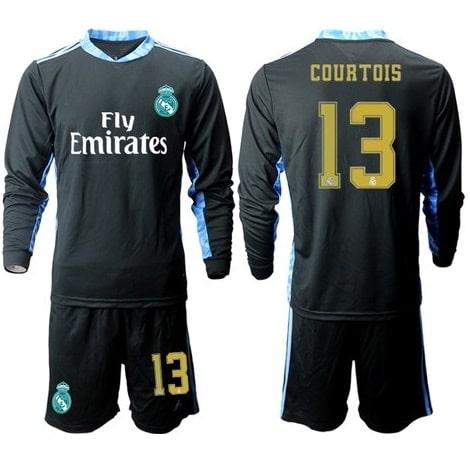 Детская домашняя форма Реал Мадрид 18-19 c длинными рукавами бренд