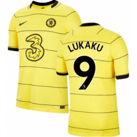 Гостевая игровая футболка Челси Ромелу Лукаку 2021-2022