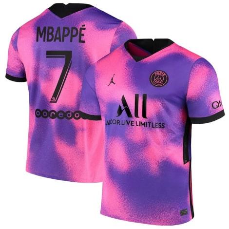 Четвертая футболка ПСЖ 2020-2021 Мбаппе номер 10