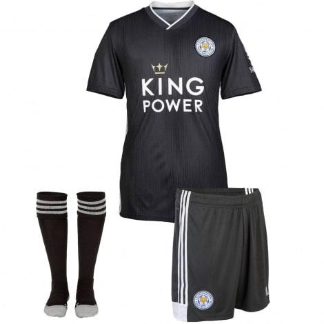 Комплект взрослой гостевой формы Лестер Сити 2019-2020 футболка шорыт и гетры