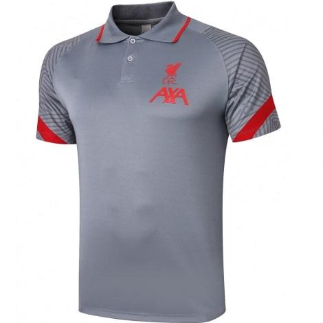 Серо-красная футболка поло Ливерпуля 20-21
