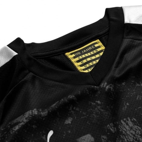 Комплект детской гостевой формы Боруссии 2019-2020 футболка воротник